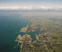 富山新港と工業地帯