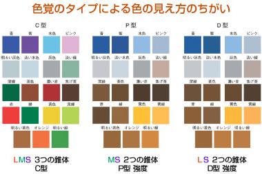色覚タイプによる色の見え方の違い