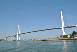 渡船から見る新湊大橋