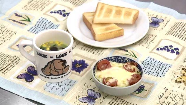 巣ごもり卵と野菜の簡単スープ