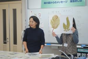 海藻おしば教室の様子
