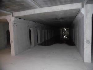 雨水調整施設内部(施工中)