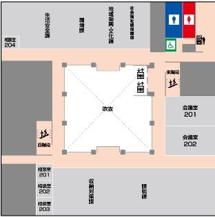 新庁舎配置図2F