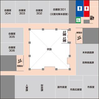 新庁舎配置図3F